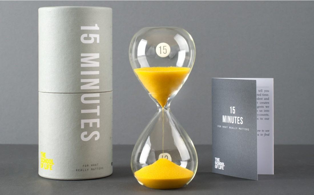 15 Minute Timer - School of Life | Foyles Bookstore