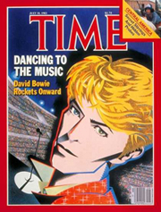 David Bowie on the cover of Time magazine in 1983