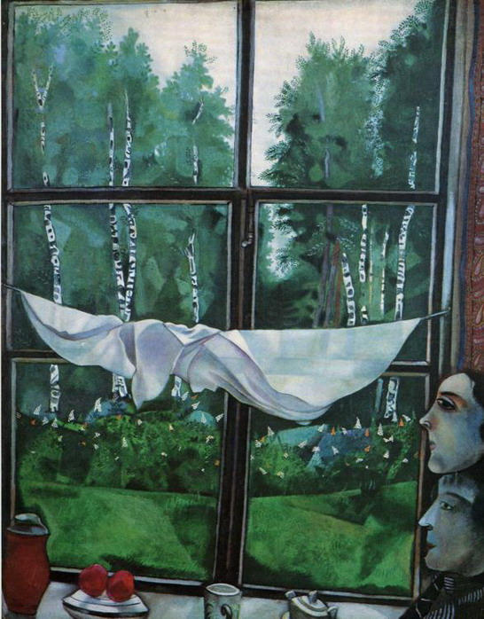 Window at the Dacha by Marc Chagall