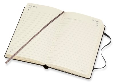 picture about Hardcover Daily Planner referred to as 2019 Black Pocket Hardcover Day-to-day Planner 12 Weeks Diary