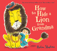 Lions with authors Alex T. Smith and Helen Stephens