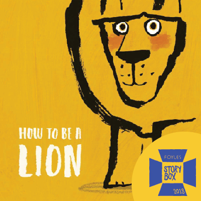 How to be a Lion Window Painting