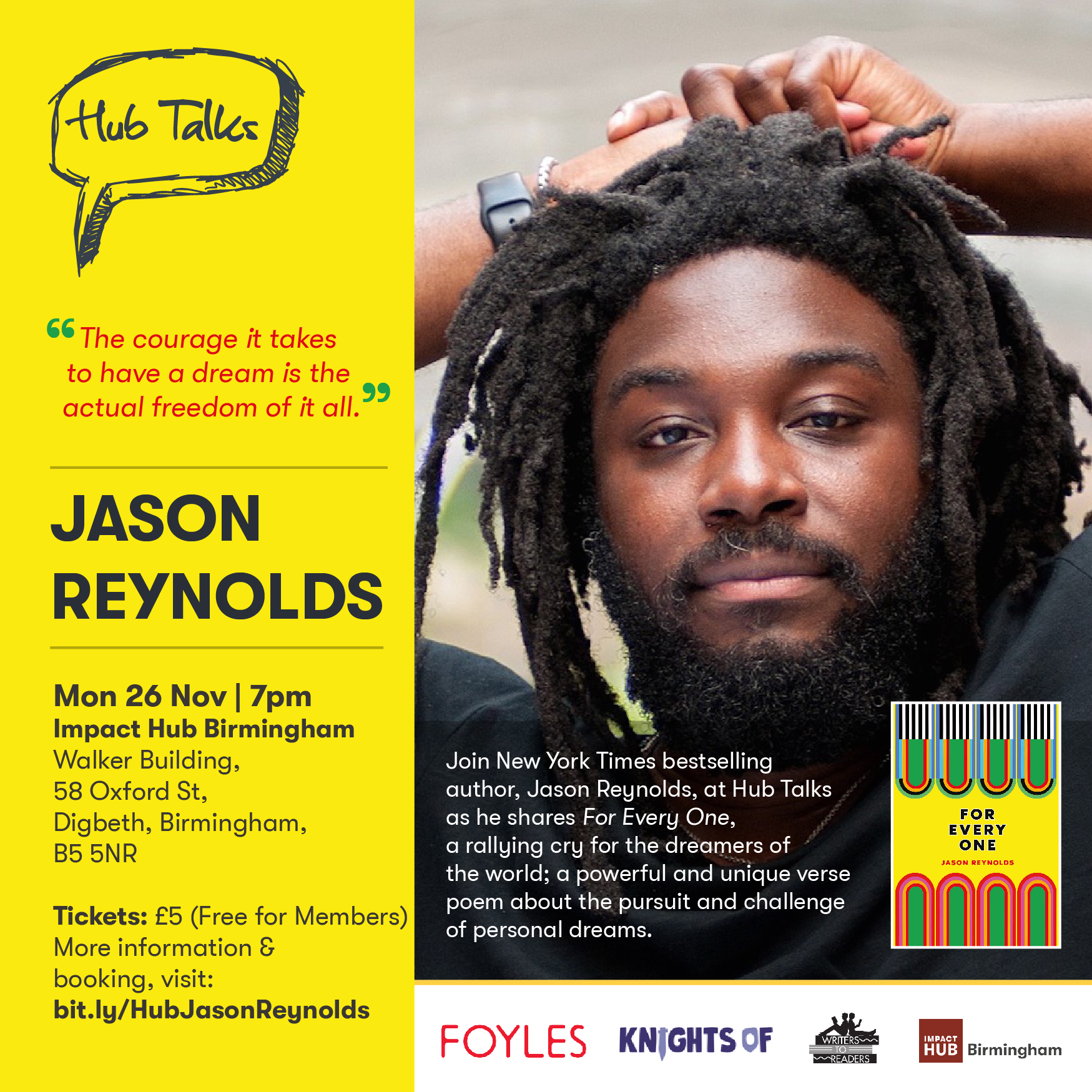 Hub Talks: Jason Reynolds