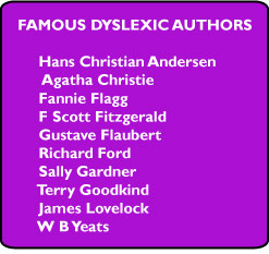 Famous dyslexic authors