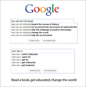 Read a book, get educated, change the world