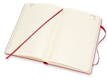 photo relating to Hardcover Daily Planner referred to as 2019 Crimson Hardcover Day-to-day Planner 12 Weeks Diary - MOLESKINE