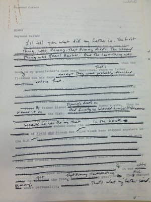 Manuscript of Carver's Edited Text